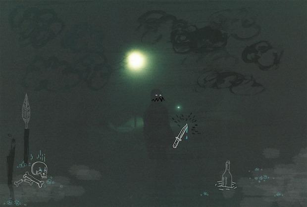 Georg ischepp, night riding in Borovets, pic_Vid Baric, illustration_Rina Barbaric
