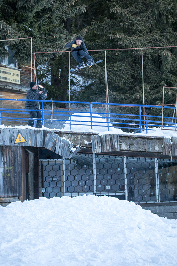 Andrew brewer with a frontside 180 mellon mollie in Bulgaria