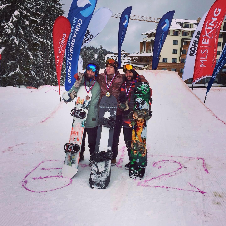 Пепи Гьошарков FIS Kopaonik Big Air 2020 - награждаване